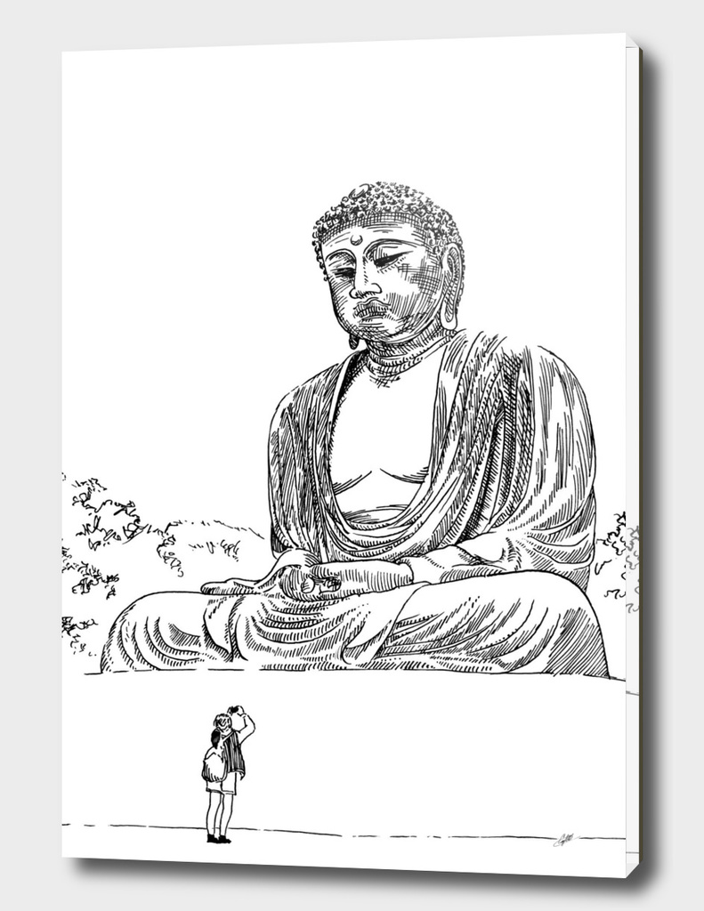 Buddha and photographer