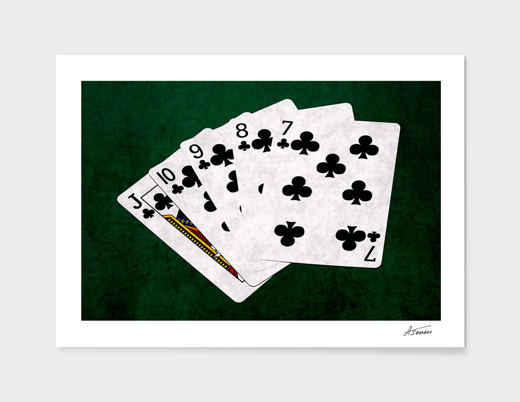 Poker Hands - Clubs Straight Flush