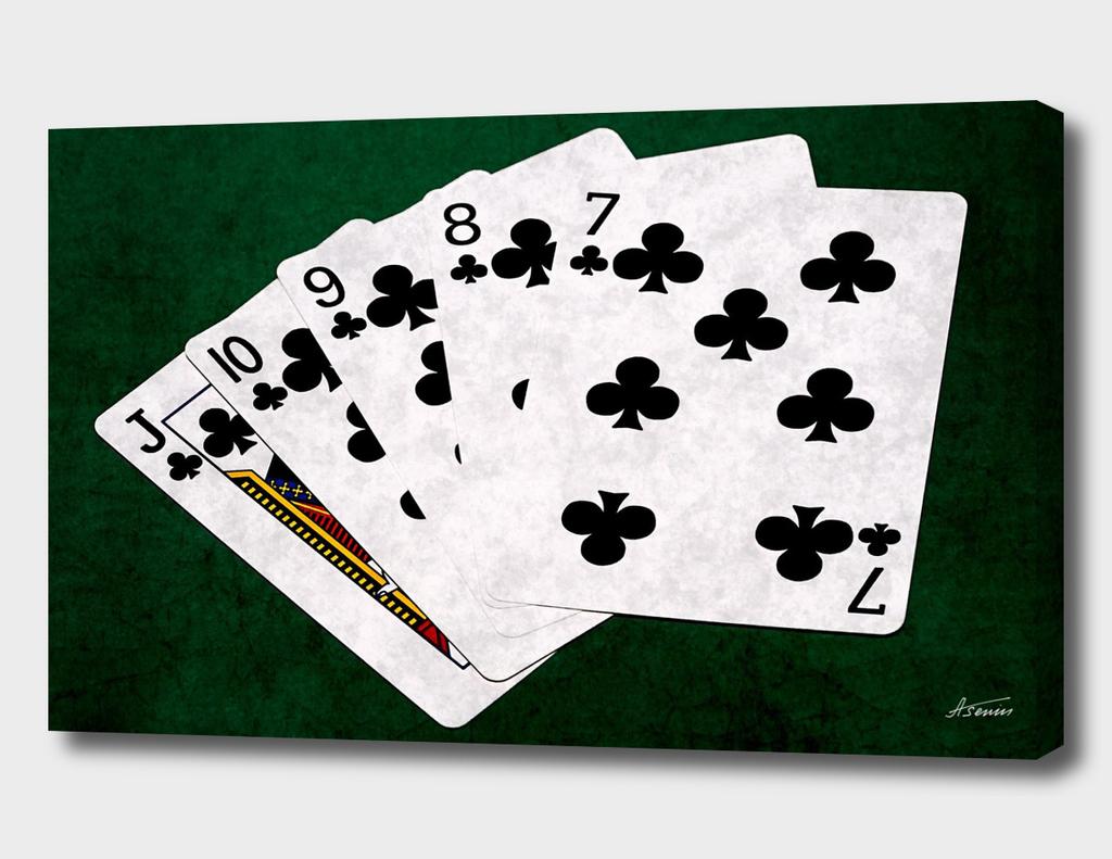 Poker Hands - Clubs Straight Flush