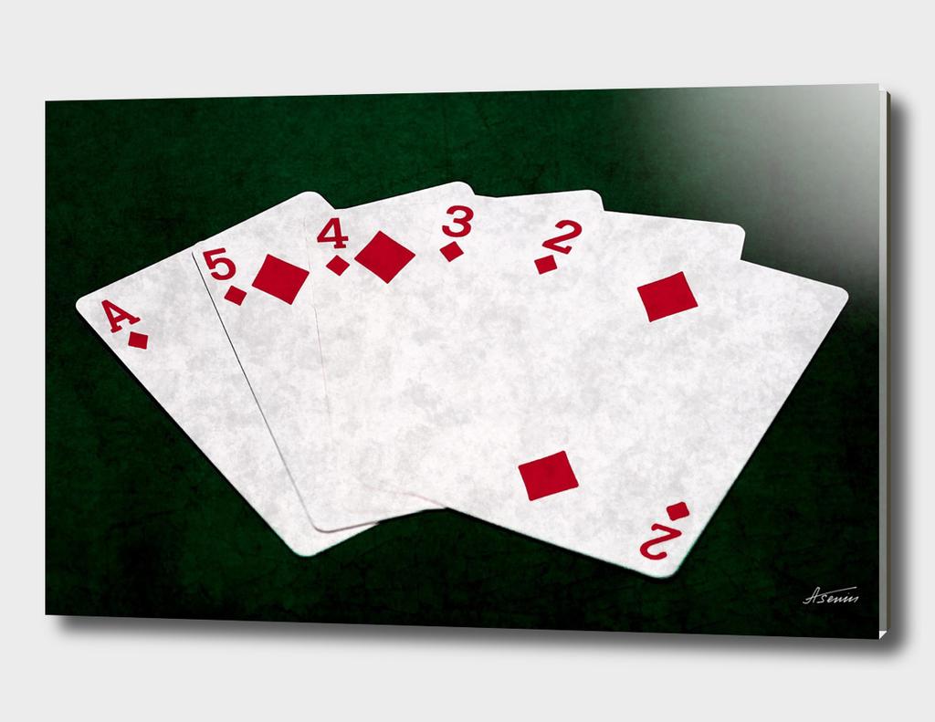 Poker Hands - Diamonds Straight Flush