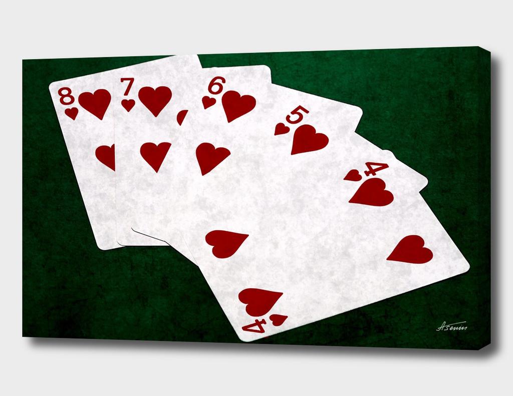 Poker Hands - Hearts Straight Flush