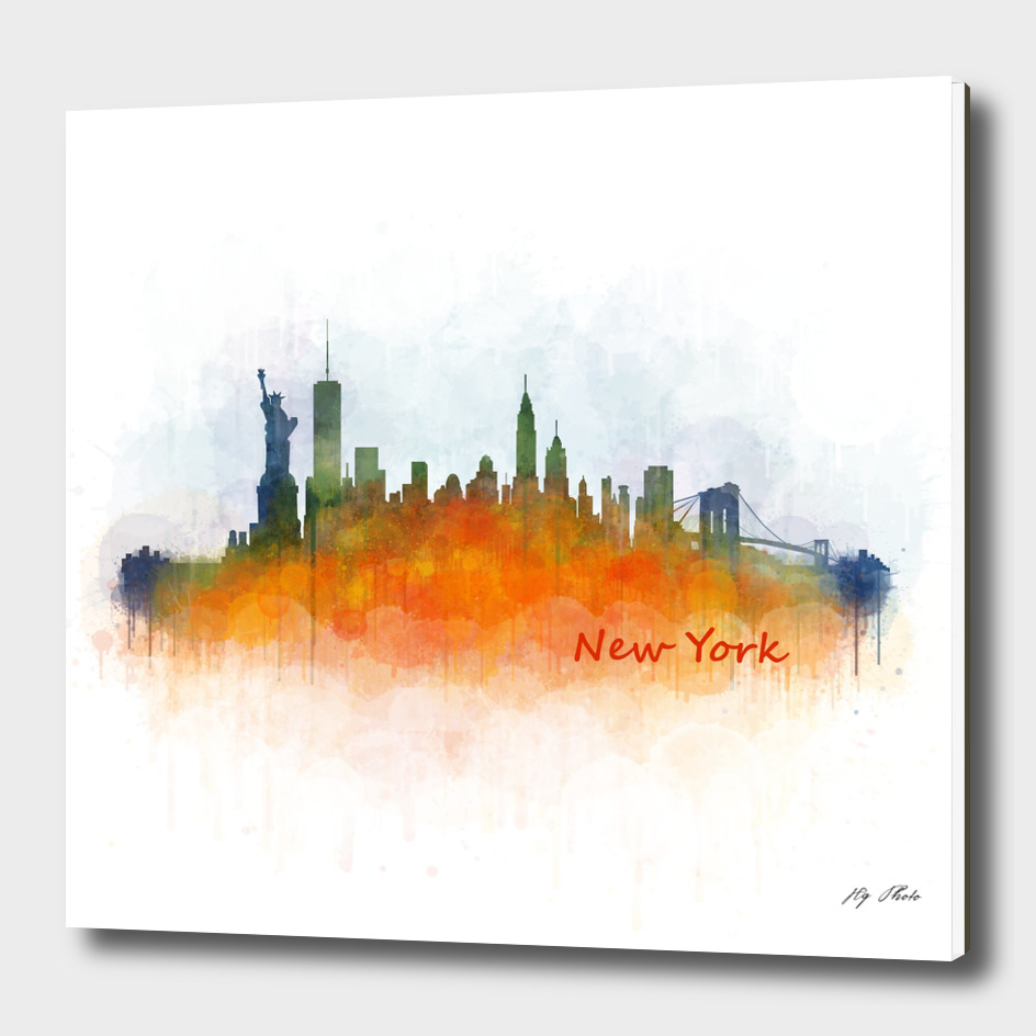NYC New york cityscape skyline v3