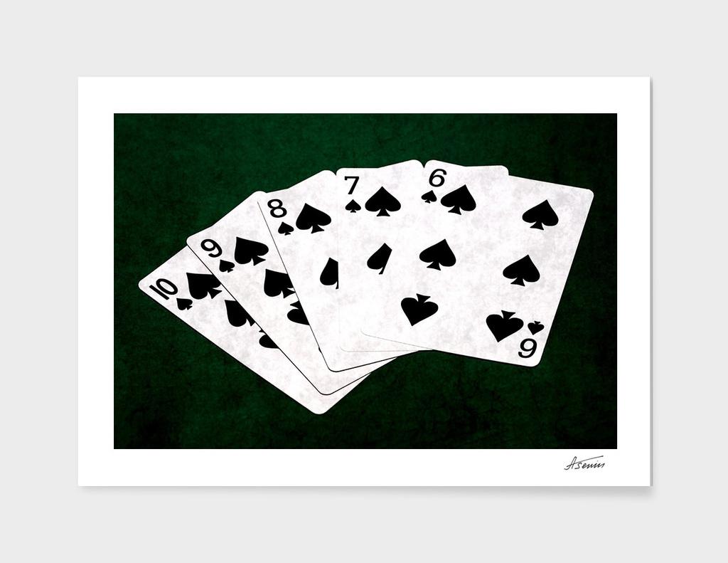 Poker Hands - Spades Straight Flush