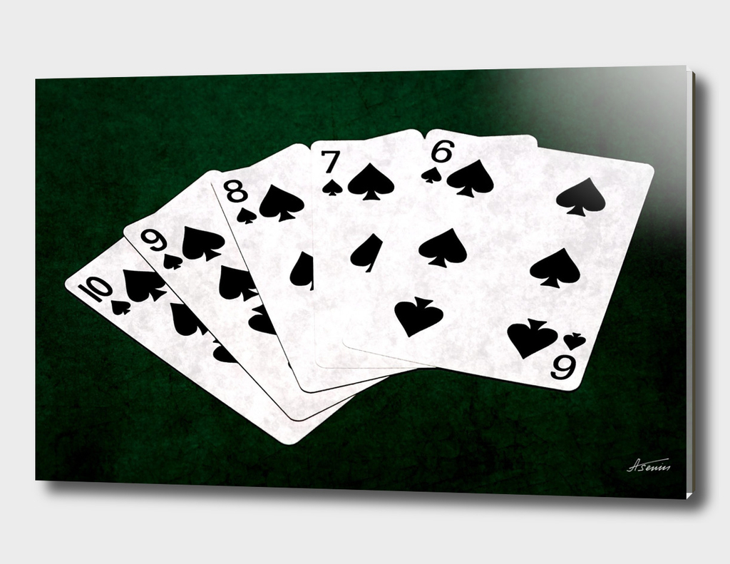 Poker Hands - Spades Straight Flush