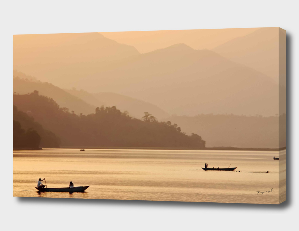Sunset on Phewa Lake