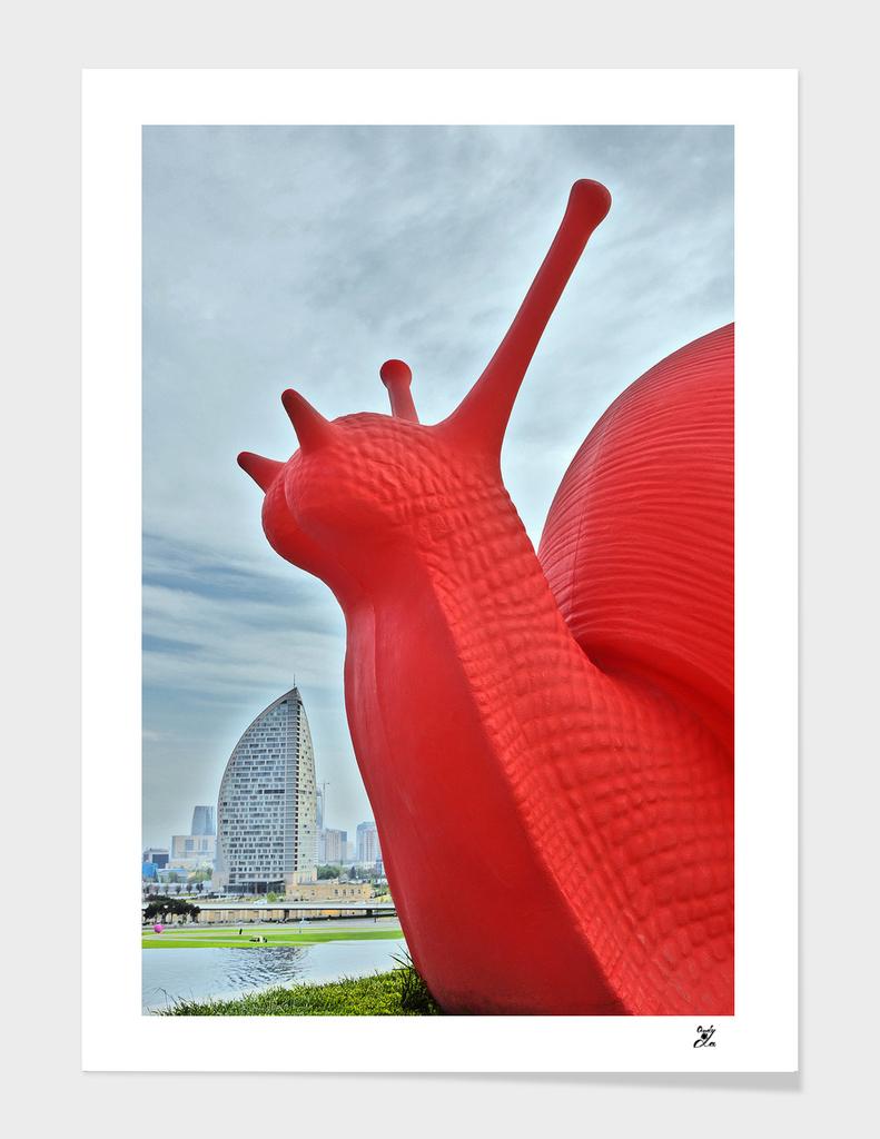 Red snail. Trump International Hotel.