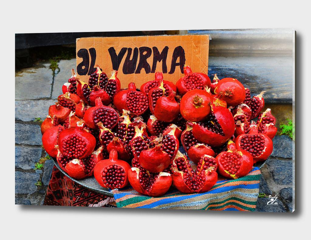 Pomegranates. Baku. Old Town.