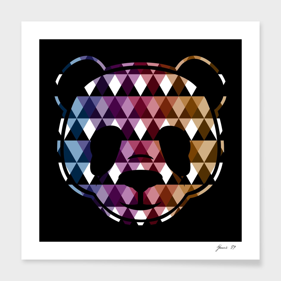 HEAD PANDA TRIANGLE (BLACK)