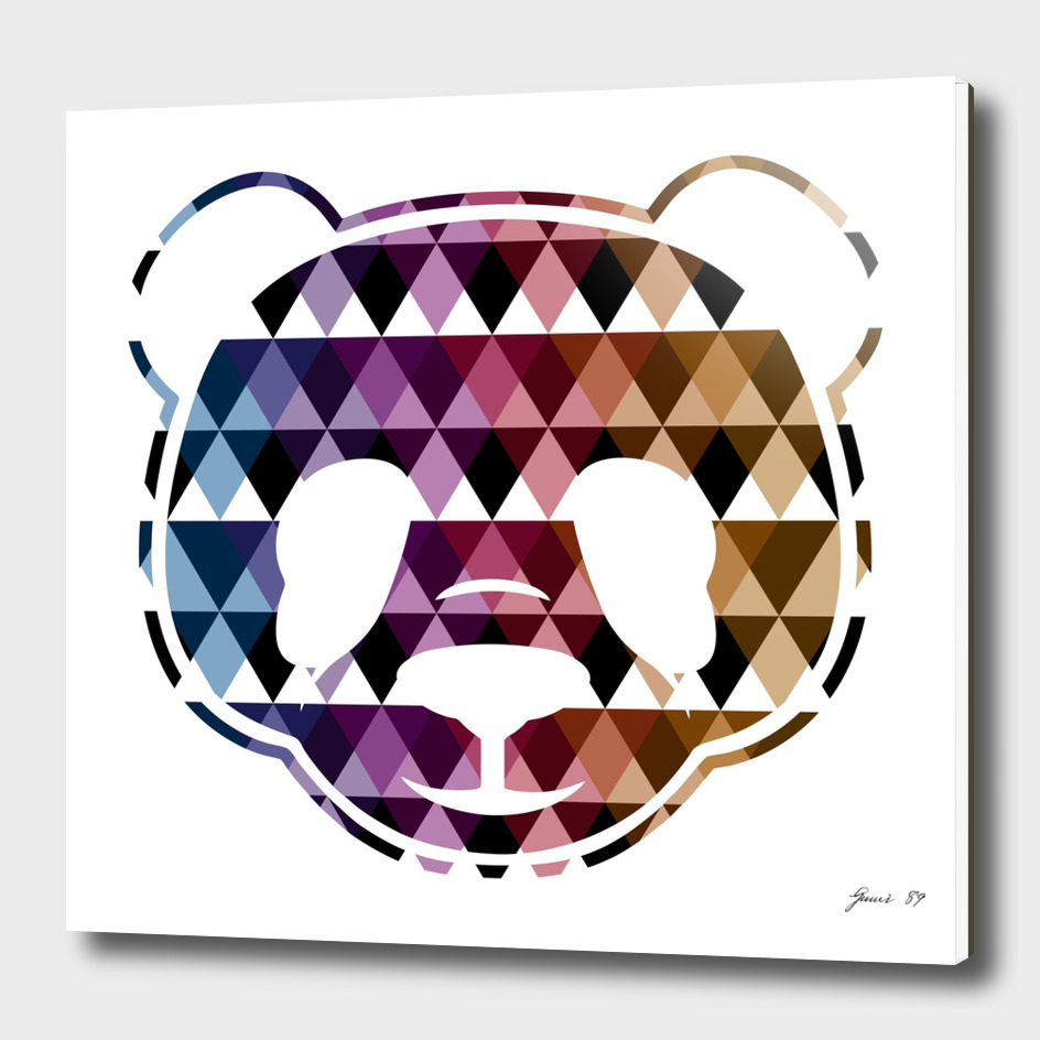 HEAD PANDA TRIANGLE (WHITE)