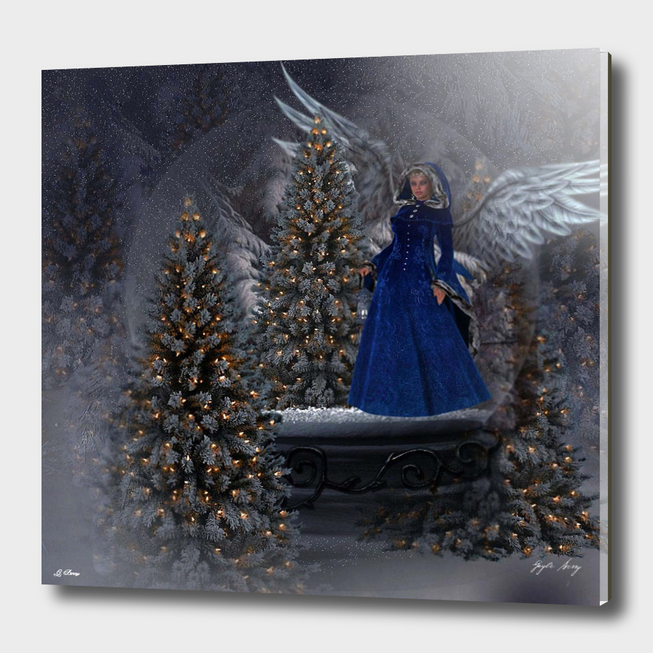 THE CHRISTMAS ANGEL SNOW  GLOBE