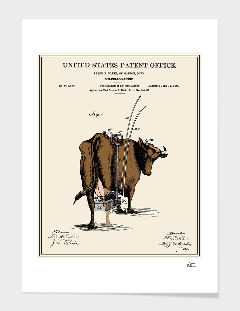 Milking Machine Patent