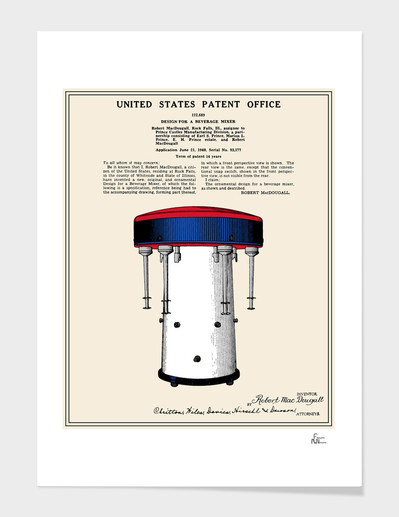 Milkshake Machine Patent