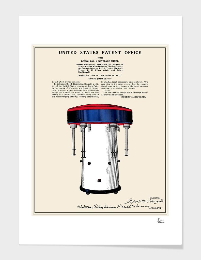 Milkshake Machine Patent