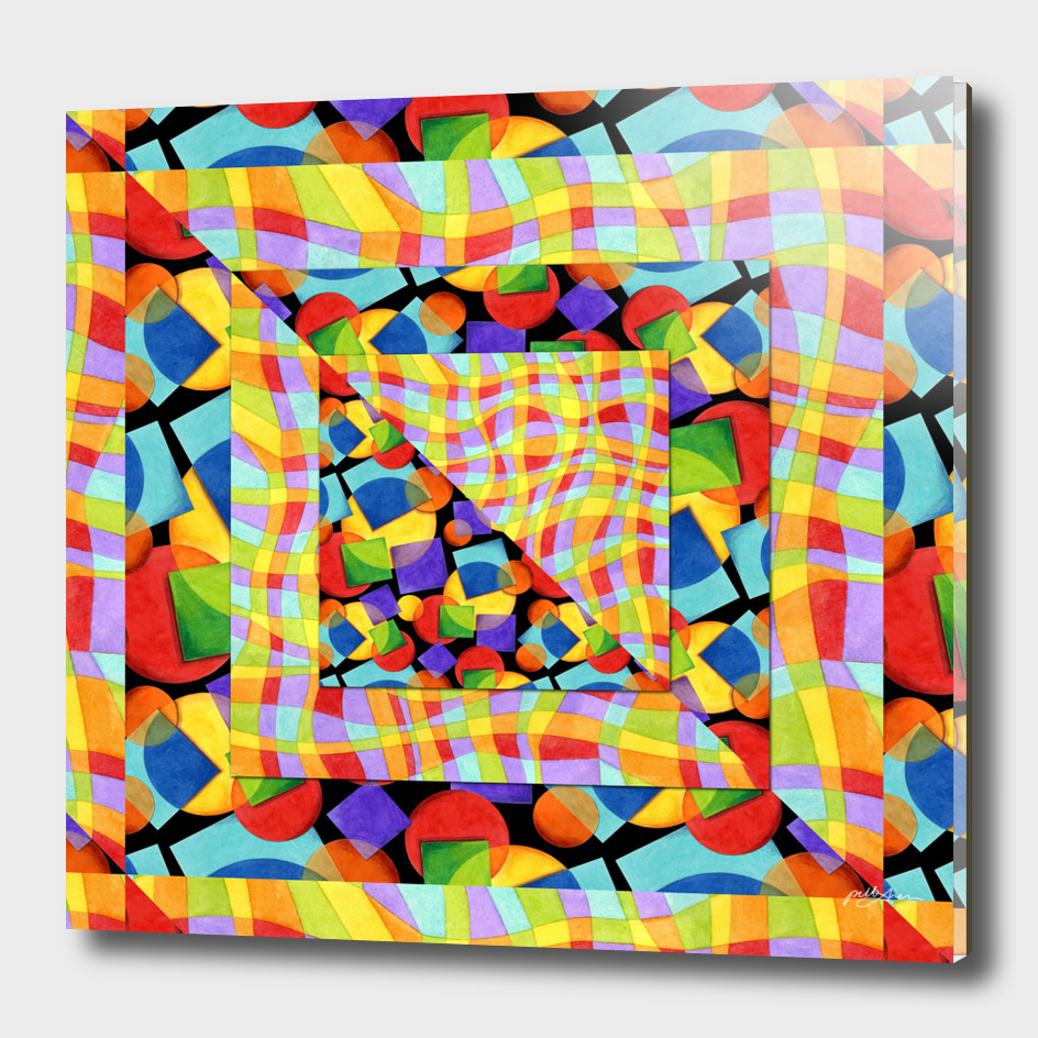 Candy Rainbow Geometric