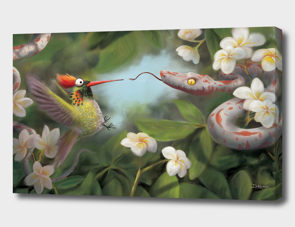 Snake and Hummingbird