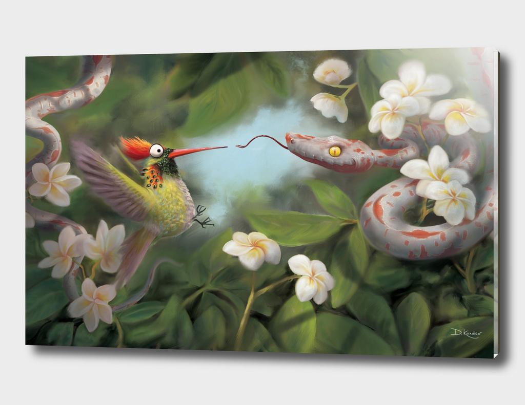 Snake and Hummingbird