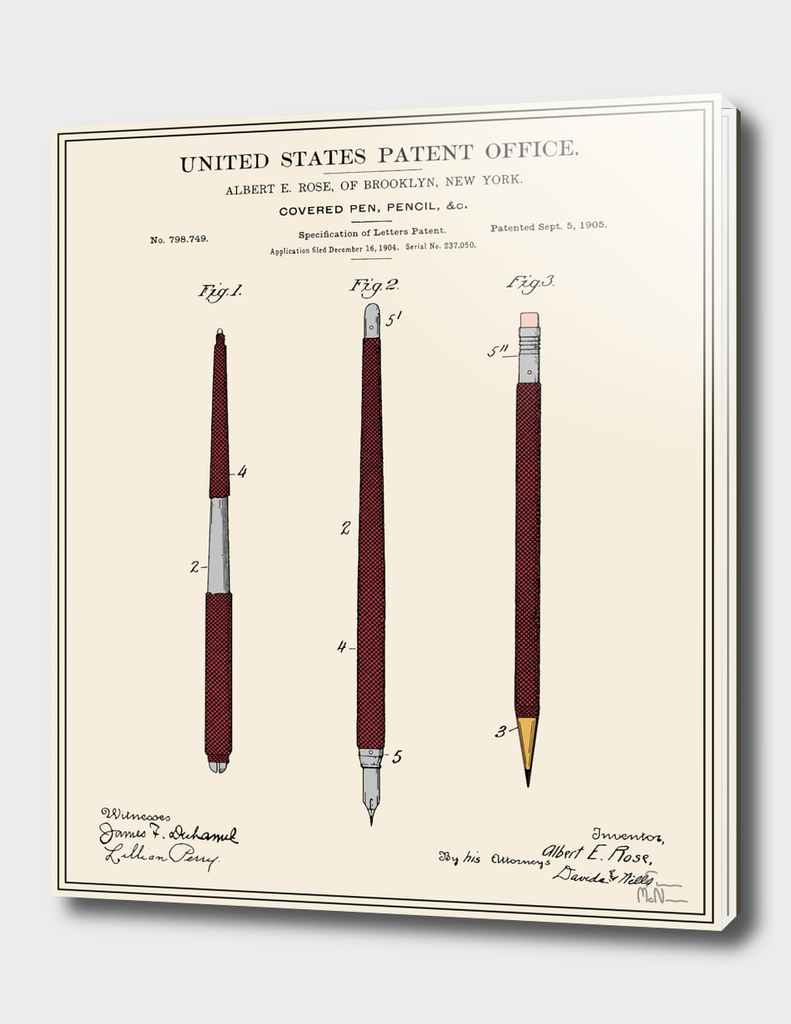 Pencil Set Patent