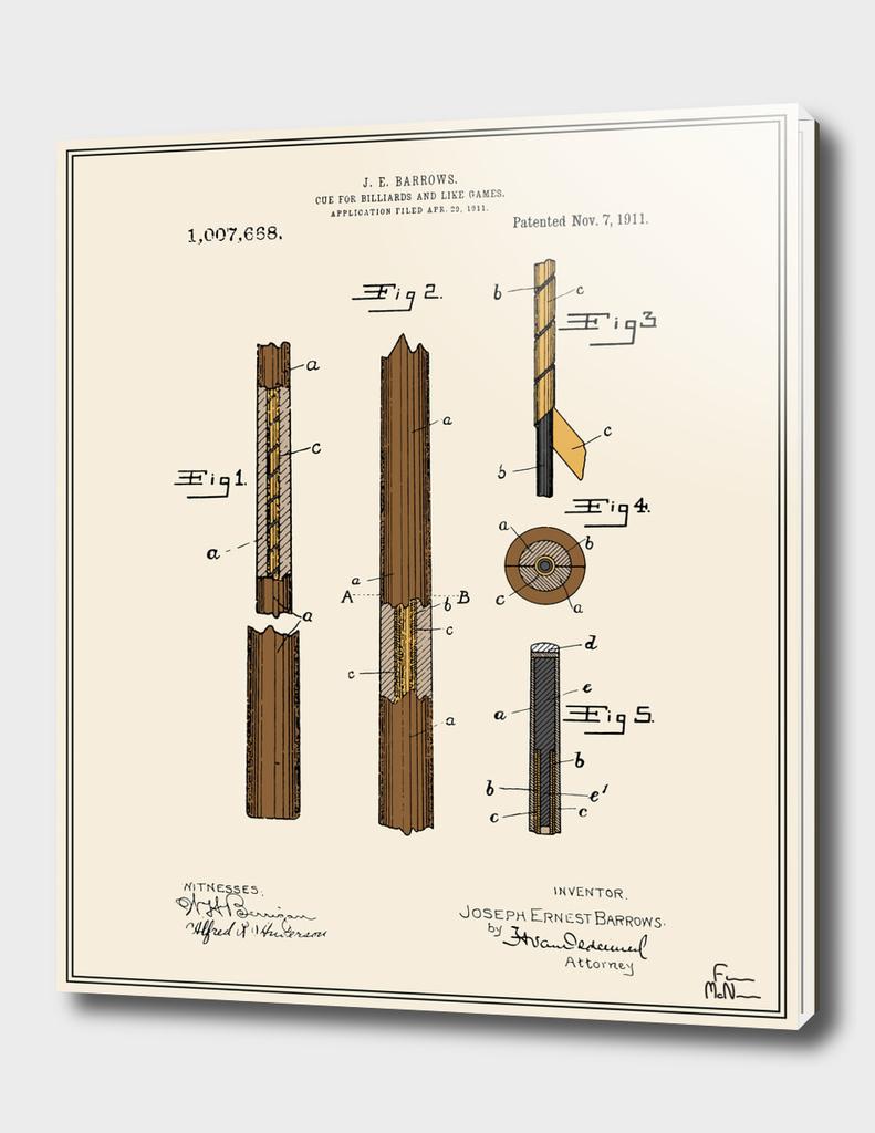 Pool Cue Patent