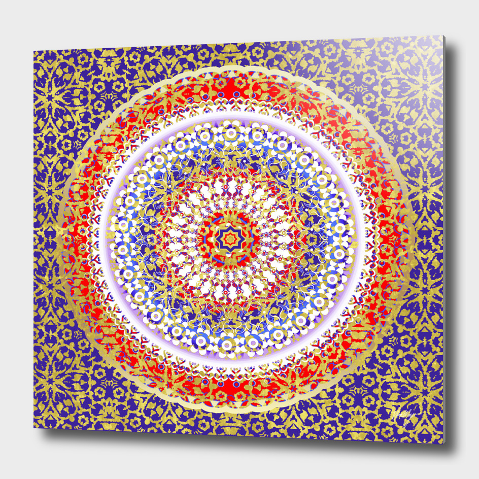 Violet Baroque Mandala