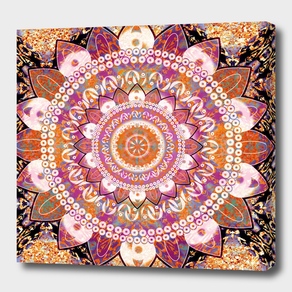 Batik Copper Mandala
