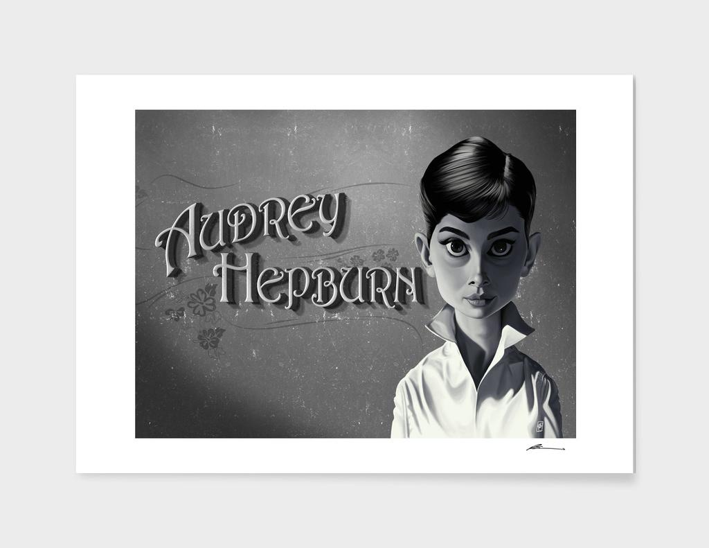Audrey Hepburn - vintage movie card