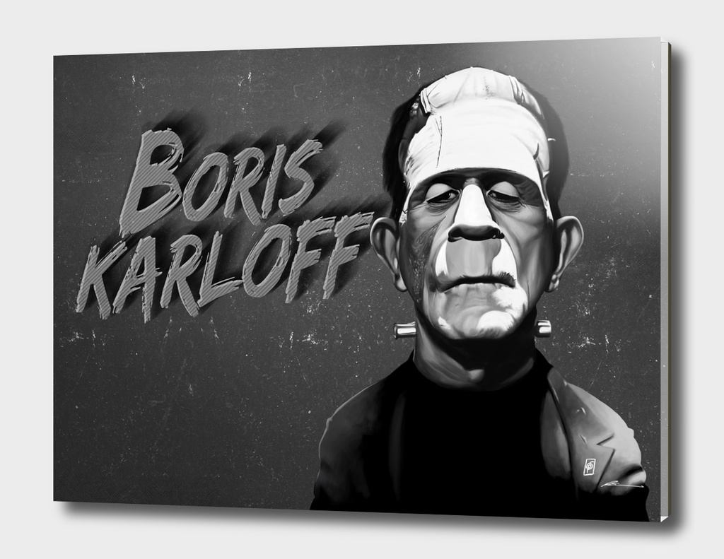 Boris Karloff - vintage movie card