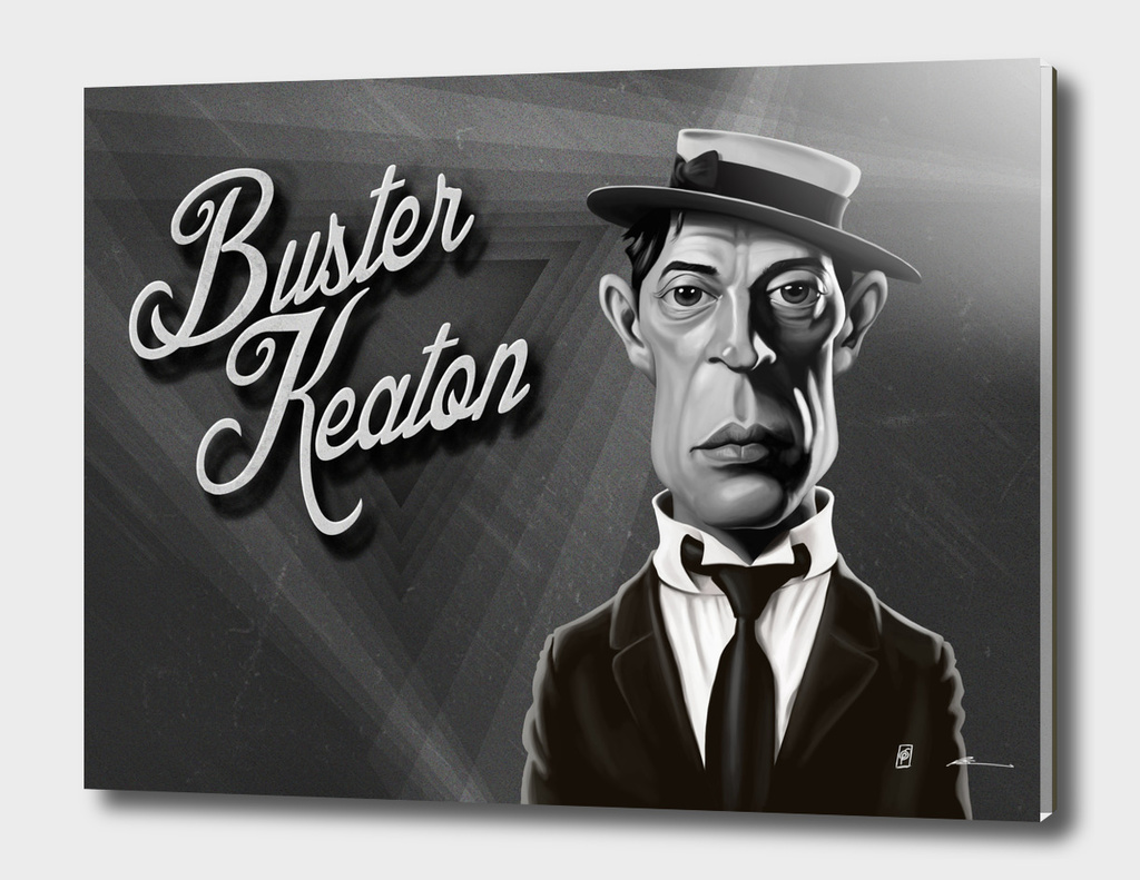 Buster Keaton - vintage movie card