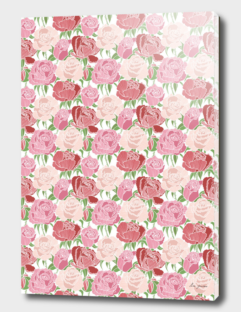 Tender graphic roses