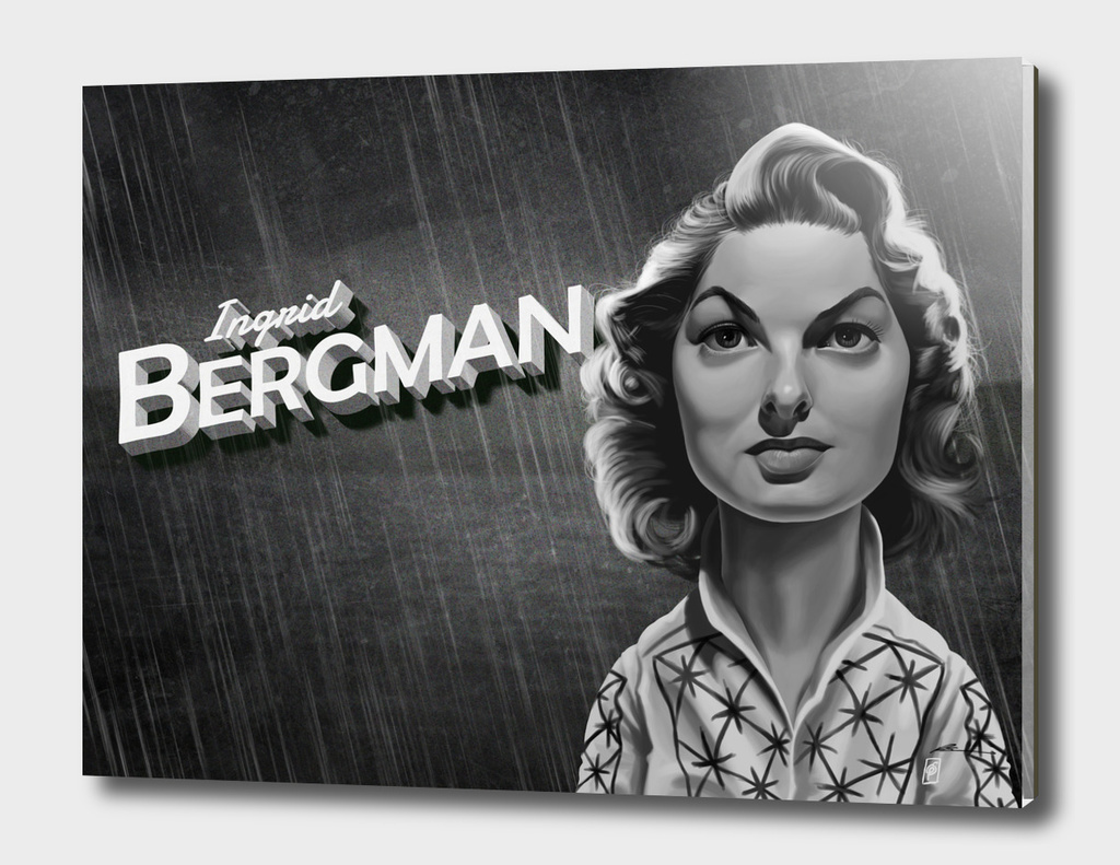 Ingrid Bergman - vintage movie card