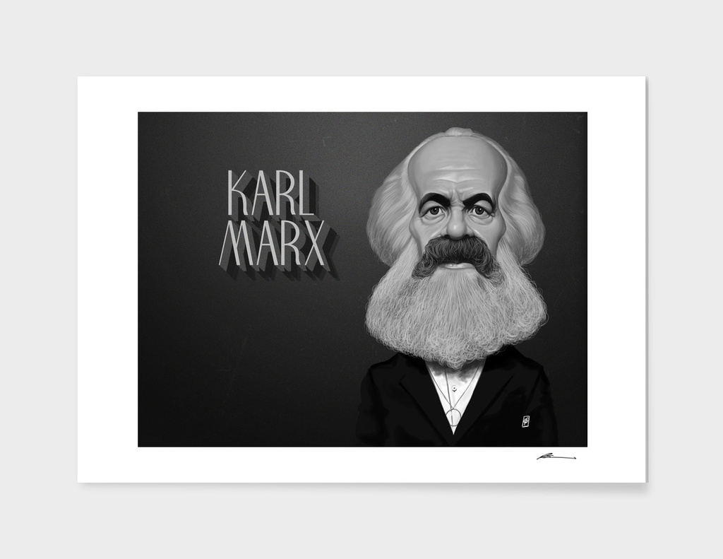 Karl Marx - vintage movie card