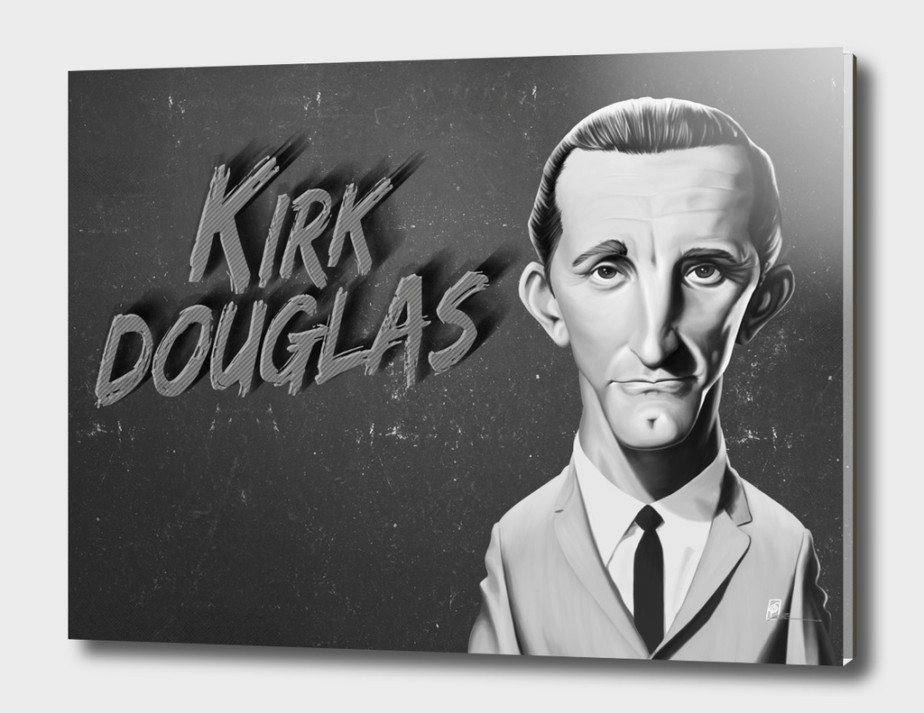 Kirk Douglas - vintage movie card