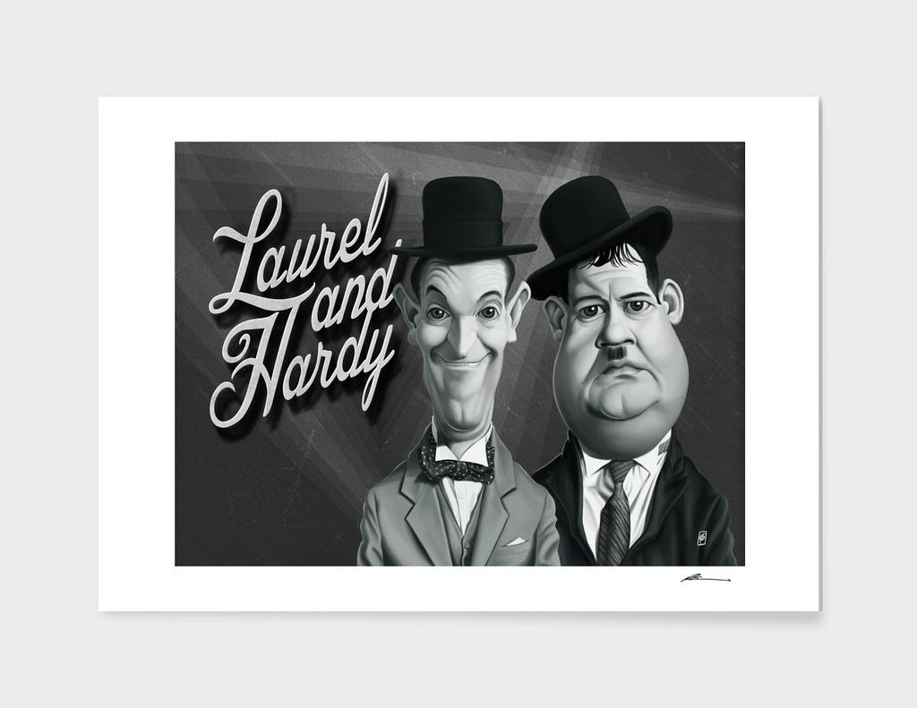 Laurel and Hardy - vintage movie card