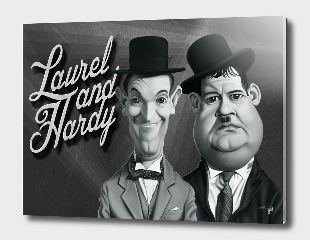 Laurel and Hardy - vintage movie card