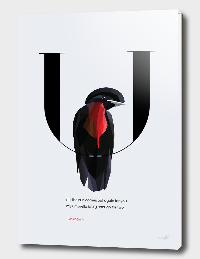 U for Umbrellabird