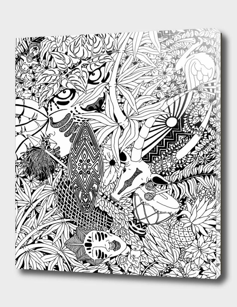 Africa Tribal Doodle Art