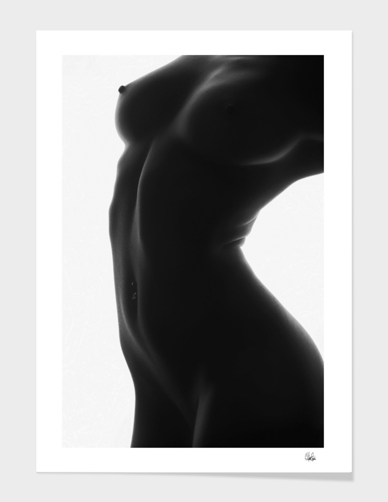 Woman's Bodyscape - Nude