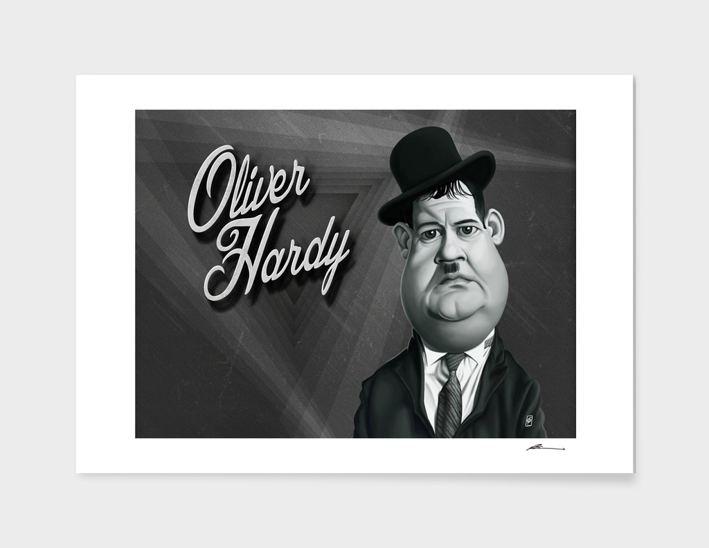 Oliver Hardy - vintage movie card