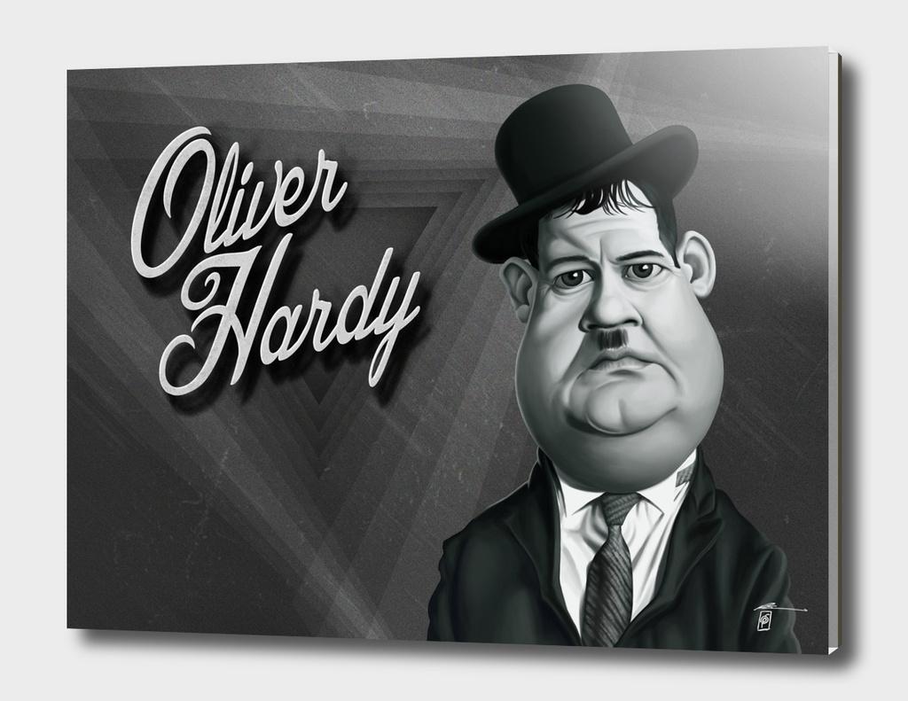 Oliver Hardy - vintage movie card