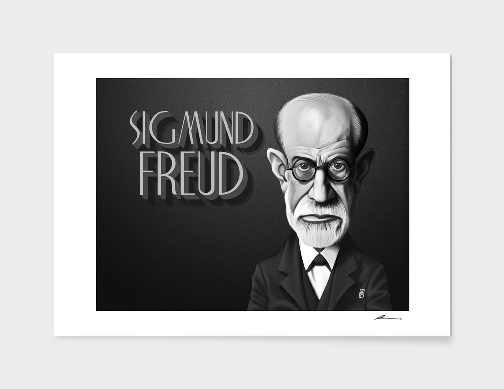 Sigmund Freud - vintage movie card