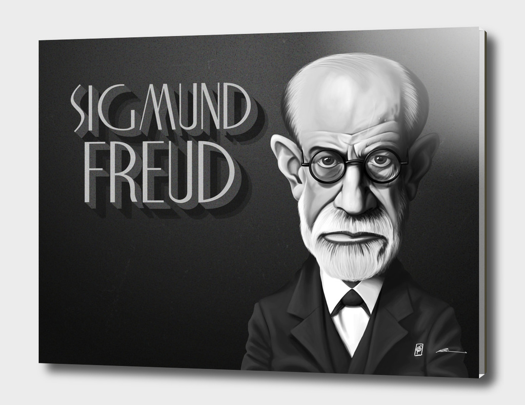 Sigmund Freud - vintage movie card