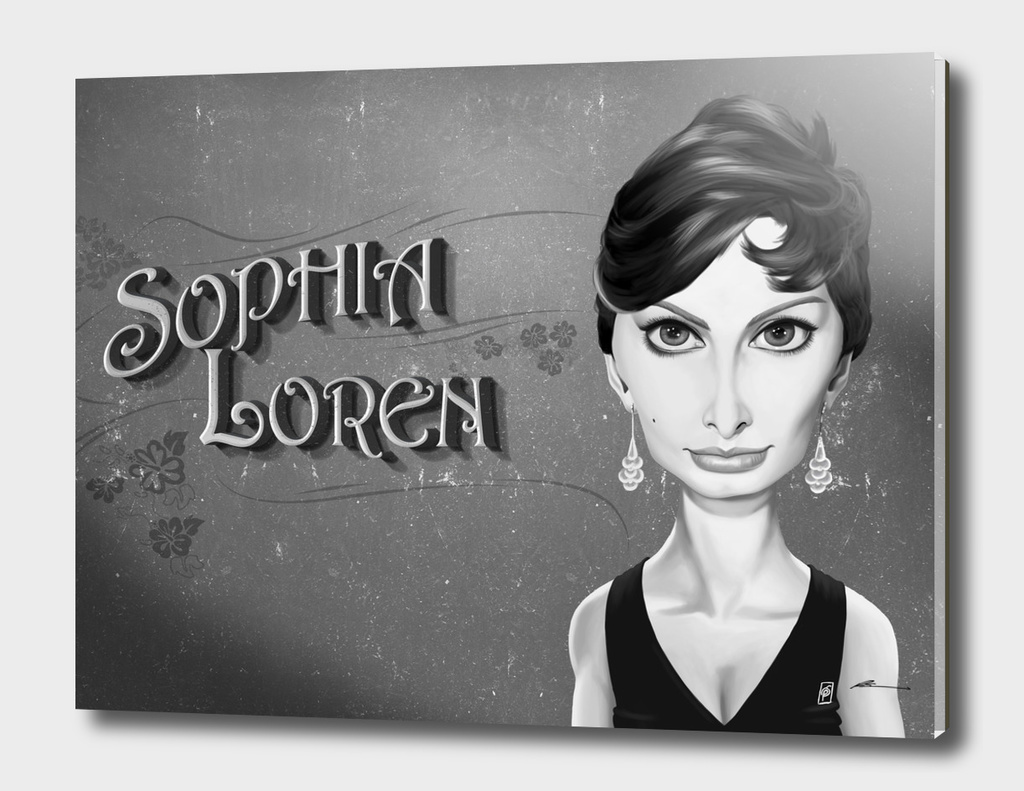 Sophia Loren - vintage movie card