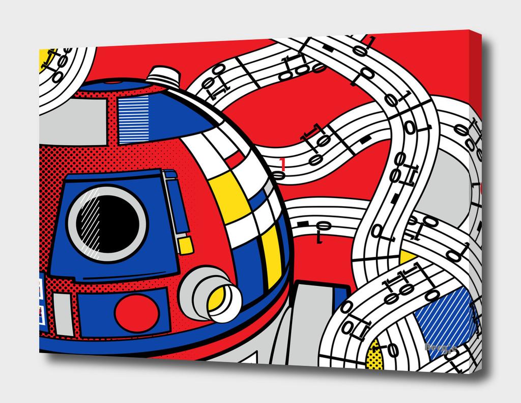 Star Wars Pop Art - R2D2 Abstract