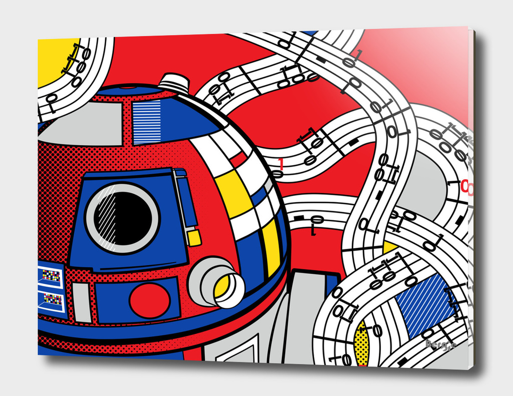 Star Wars Pop Art - R2D2 Abstract