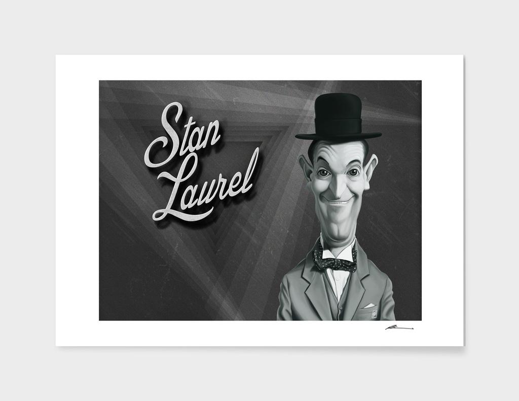 Stan Laurel - vintage movie card
