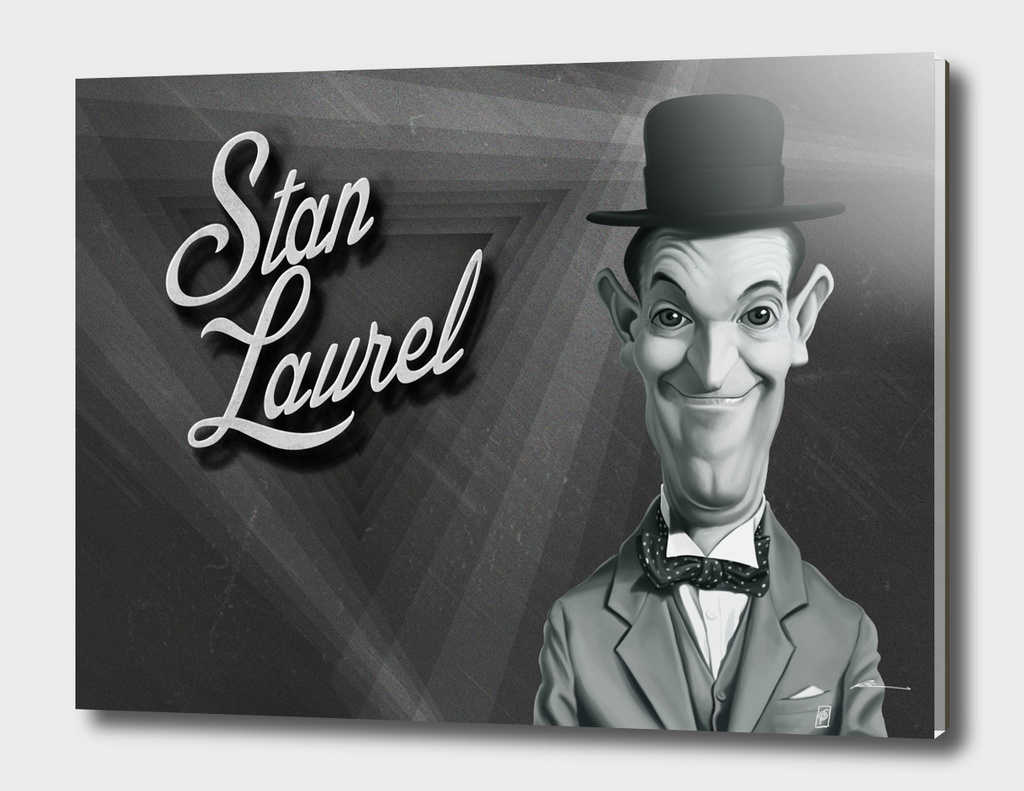 Stan Laurel - vintage movie card