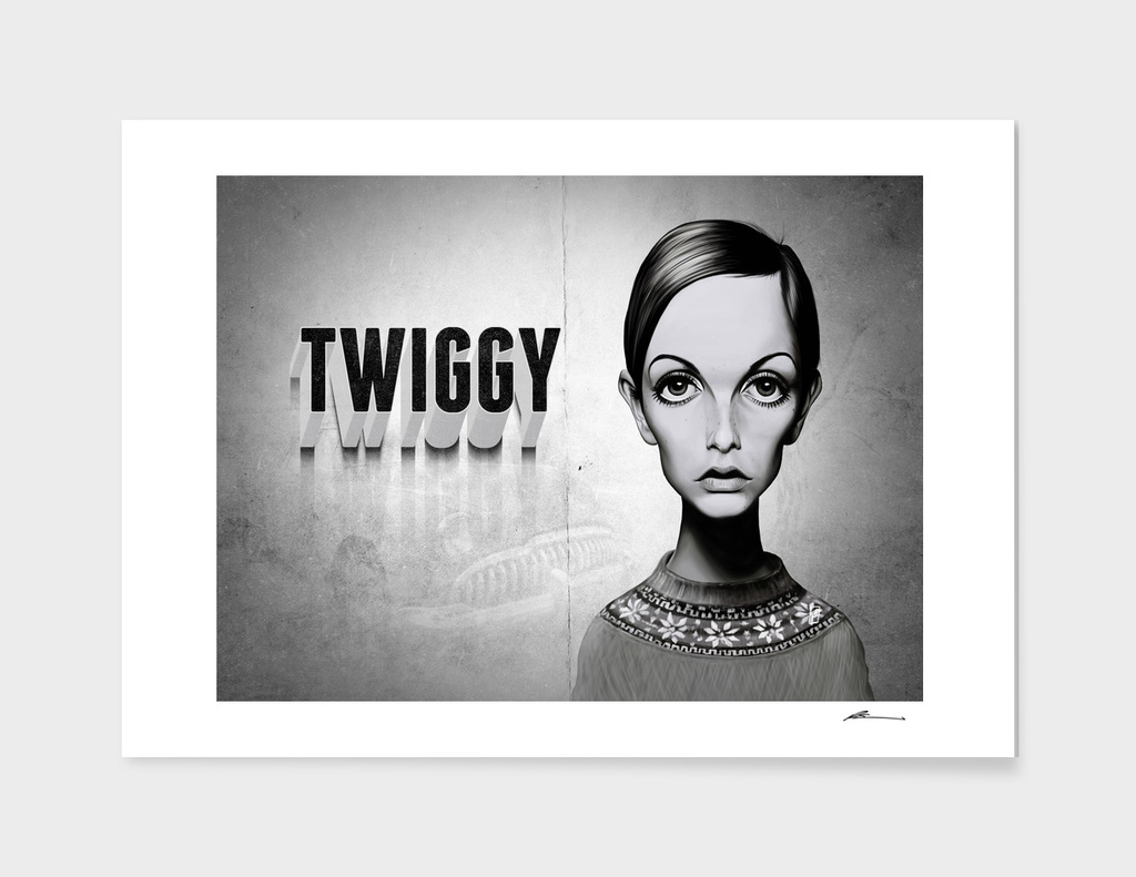 Twiggy - vintage movie card