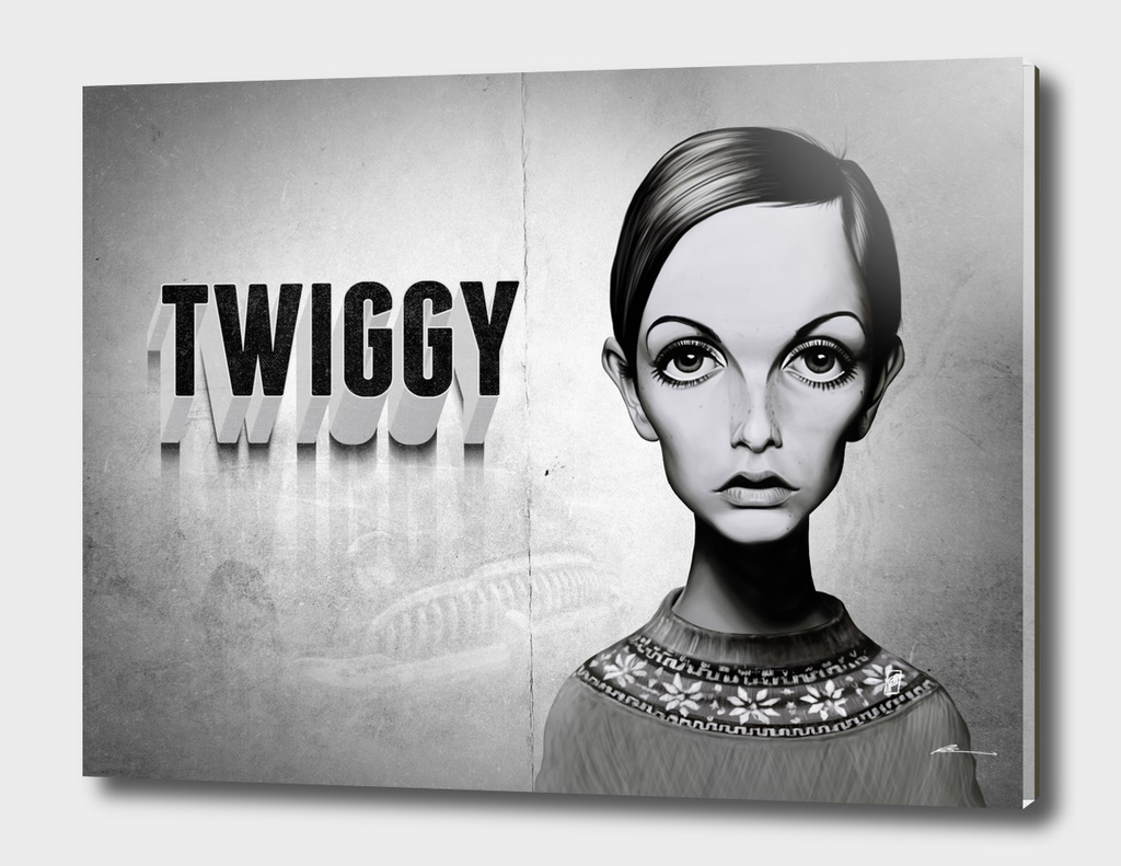 Twiggy - vintage movie card