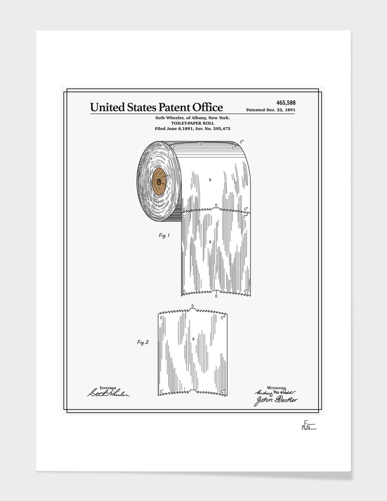 Toilet Paper Roll Patent