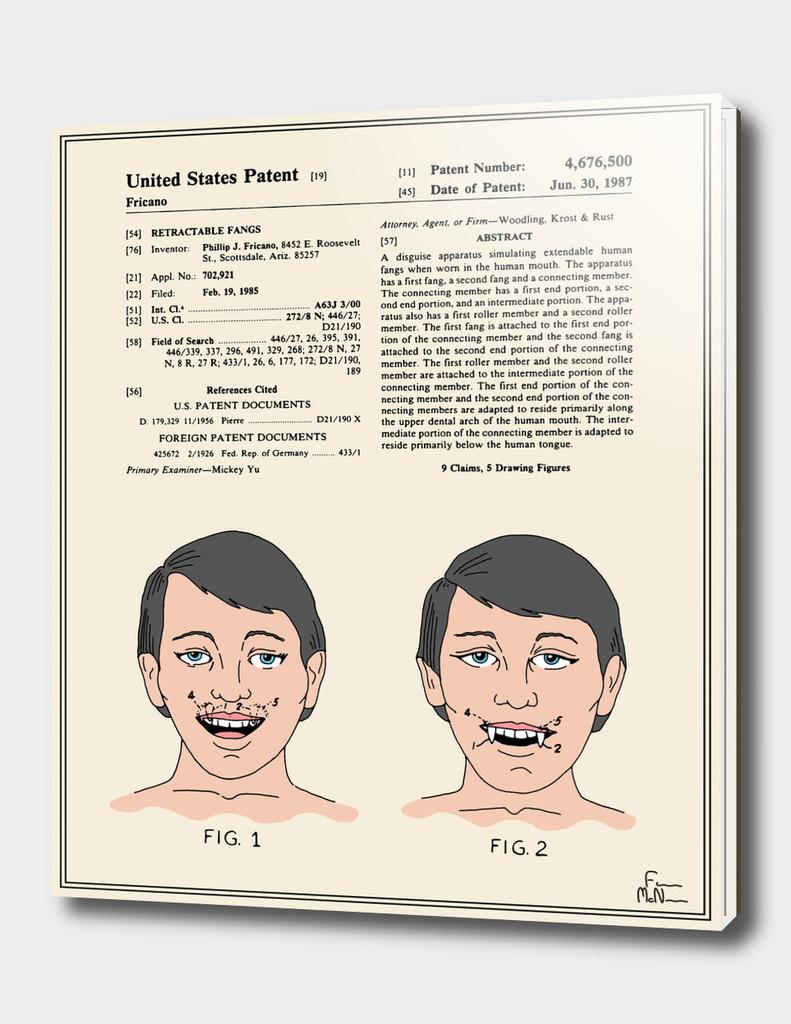 Vampire Teeth Patent