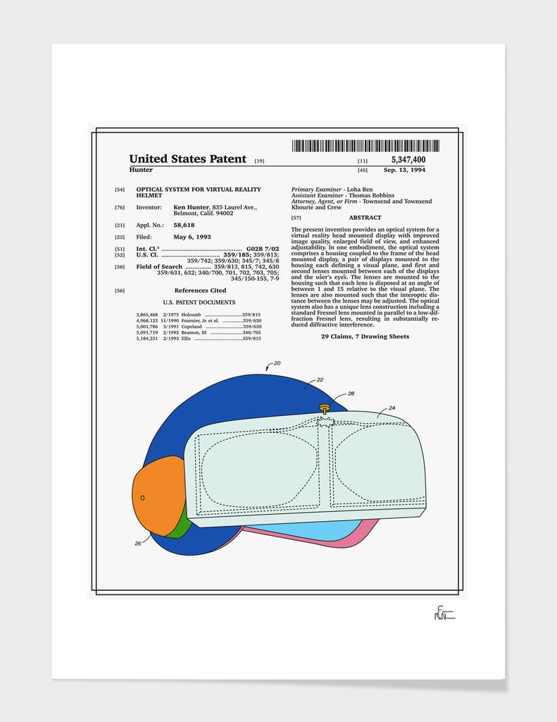Virtual Reality Helmet Patent